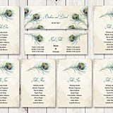 Bohemian Wedding Seating Chart Template