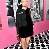 It was still all black for the oft-monochromatic Rooney Mara, who topped a DVF dress with a modern jacket.