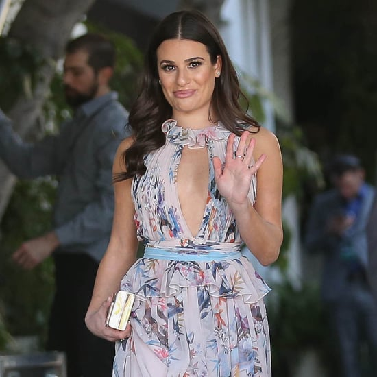 Lea Michele's Zuhair Murad Floral Dress