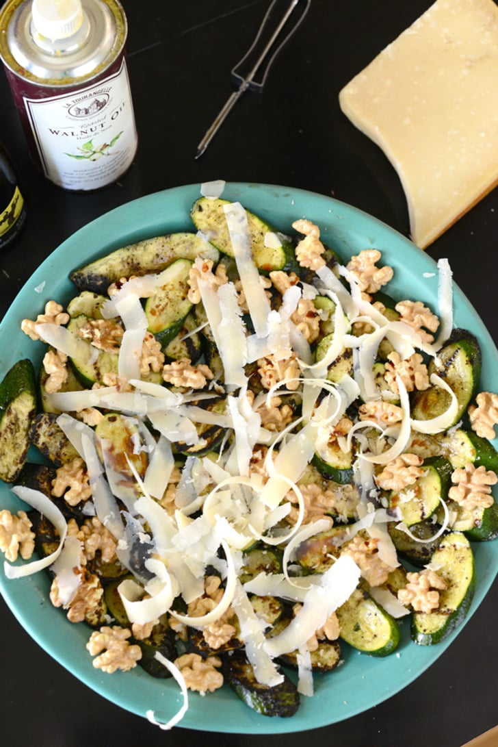 Grilled Zucchini and Walnut Salad With Mint