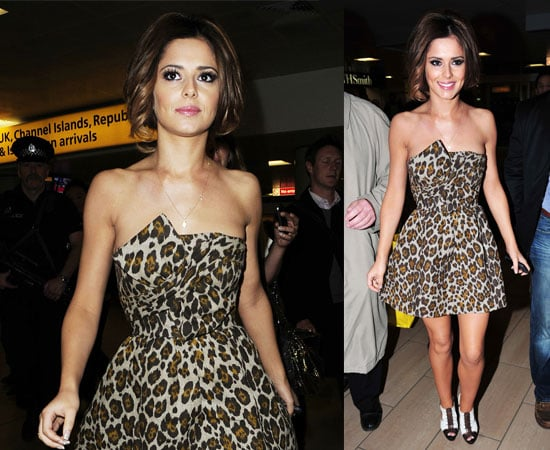 Pictures of Cheryl Cole Arriving in Glasgow