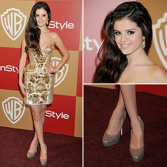 Selena Gomez Golden Globes Party Fashion 2013