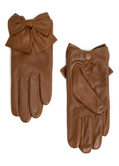 The sweetest gloves come with bows on them, just like these Mango Bowknot Leather Gloves ($50).