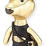 KENDALL + KYLIE Sophie Dog Charm for Handbag, Gold/Black