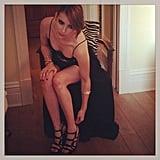 Emma Roberts got suited up in her DVF gown and Walter Steiger heels. Source: Instagram user emmaroberts6