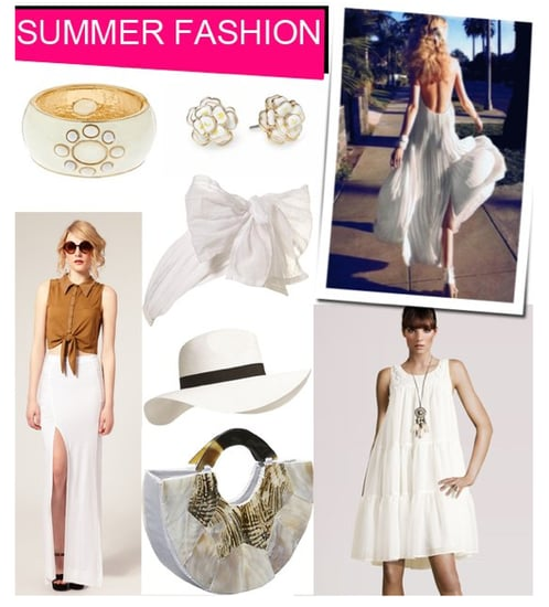 Affordable White Dresses and Tops