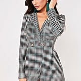 Misspap Michelle Check Longline Blazer Dress