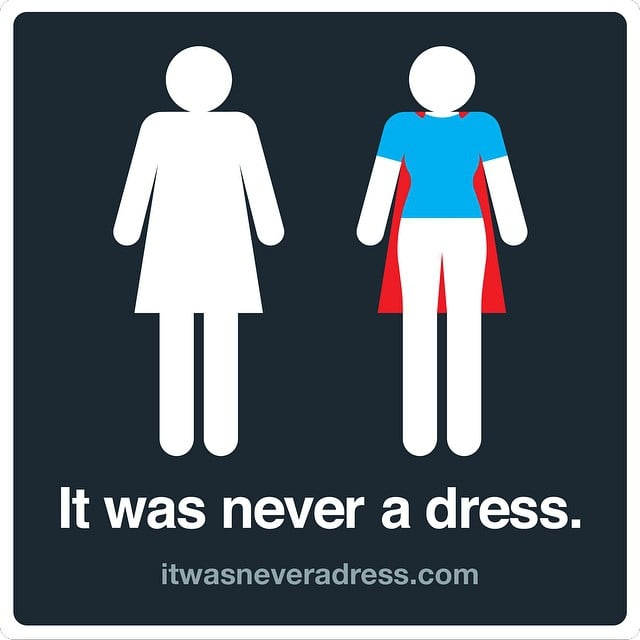 if youve ever groaned at the dress wearing womens bathroom sign youll appreciate this new design last week at the girls in tech conference in arizona - Womens Bathroom Sign