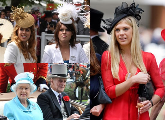 Pictures of Queen Elizabeth II, Prince Philip, Princess Beatrice, Princess Eugenie, Possibly Single Chelsy Davy at Royal Ascot