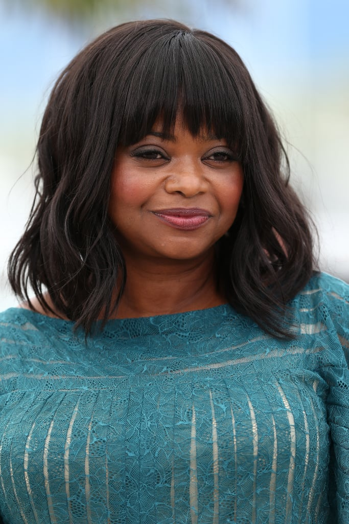 Octavia Spencer went for textured waves at the Fruitvale Station photo call.
