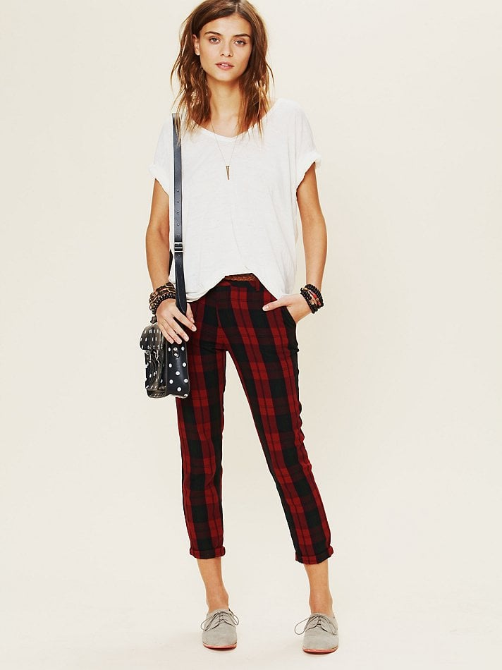 This Rails plaid slouchy trouser ($158) is the epitome of a laid-back classic. Because of the slimming silhouette paired with a no-fail red tartan finish, you can wear these year-round, but we love it right now for its festive appeal.