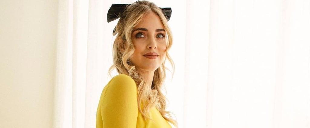 Chiara Ferragni's Yellow Giambattista Valli Maternity Dress