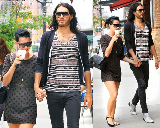 Pictures of Russell Brand and Katy Perry Holding Hands in NYC and Watch California Gurls Video Behind the Scenes