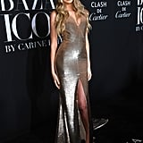 Romee Strijd at the Harper's Bazaar ICONS Party During New York Fashion Week
