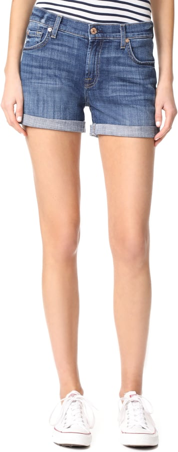 If you consider your ultrashort denim days over, try this elevated cuff style by 7 For All Mankind ($169).