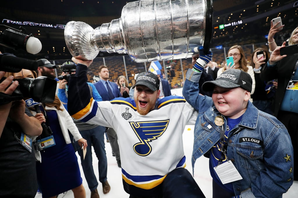 Laila Anderson St  Louis Blues Superfan at Stanley Cup