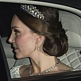 Kate Middleton Wearing a Tiara at the Diplomatic Reception at Buckingham Palace in  2017