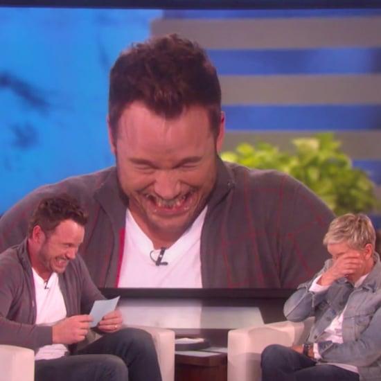 Chris Pratt Playing Speak Out on Ellen Video