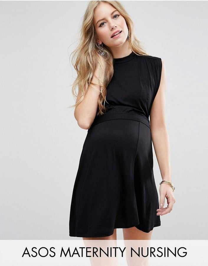 7f20b49d27e88 ASOS High-Neck Mini Dress | Maternity Clothes That You Can Wear When ...