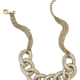 Add some instant sparkle to your outfit with this gold chain link Giuliana Rancic for LOFT Statement Necklace ($70). Twenty-five percent of full-price purchases will go directly to The Breast Cancer Research Foundation