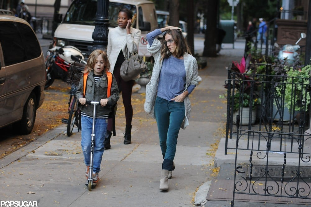 Sarah Jessica Parker and James Broderick headed to his school.