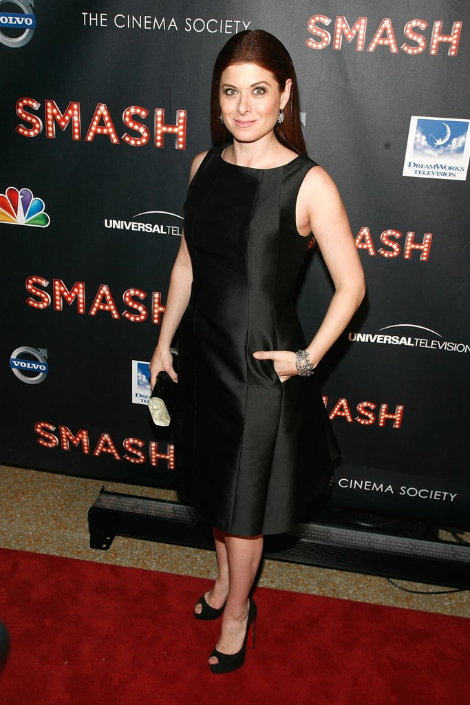 Debra Messing attended the NBC Entertainment & Cinema Society with Volvo premiere of Smash at the Metropolitan Museum of Art.