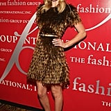 The blond stunner wowed in a feathered Burberry Prorsum dress, ankle-wrap peep-toes, and loose curls at the Fashion Group International's 25th annual Night of Stars in 2008.