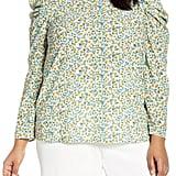 Jason Wu x ELOQUII Puff-Sleeve Floral Print Blouse