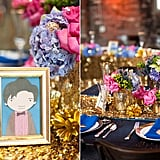 Eleven makes an appearance at the wedding as part of the tablescape — table 11, that is.  Source: Candice Benjamin Photography