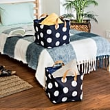 Set of Two Cube Storage Bin in Navy