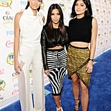 Kendall Jenner, Kim Kardashian, and Kylie Jenner showed up in style for the Teen Choice Awards.