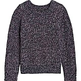 Chunky Pointelle Cropped Sweater
