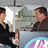 William Shatner was on hand for Sandra Bullock's March 2005 Hollywood Walk of Fame dedication.