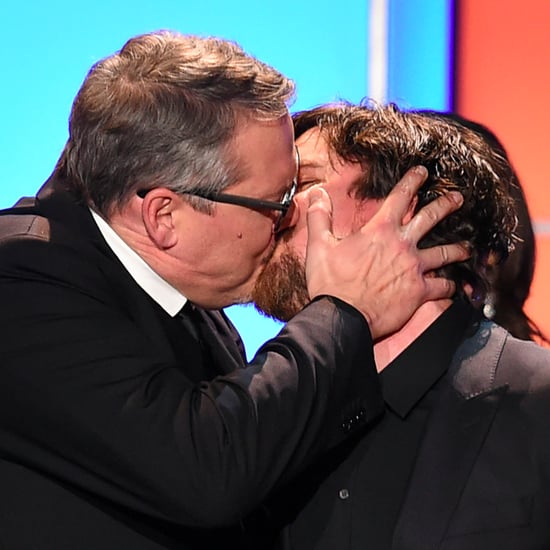 Christian Bale and Adam McKay Kiss at Critics' Choice Awards