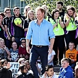 Harry's many admirers looked noticeably smitten when he visited Robert Gordon University in Aberdeen, Scotland, in September.