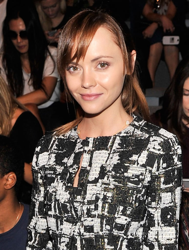 Christina Ricci at Richard Chai Spring 2014.