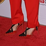 Her Kurt Geiger Shoes Were Also Red and Black
