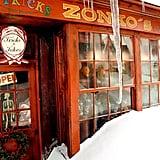 Here's Zonko's joke shop in Harry Potter and the Prisoner of Azkaban.