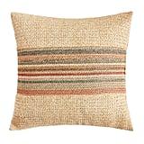 Multistriped Raffia Pillow