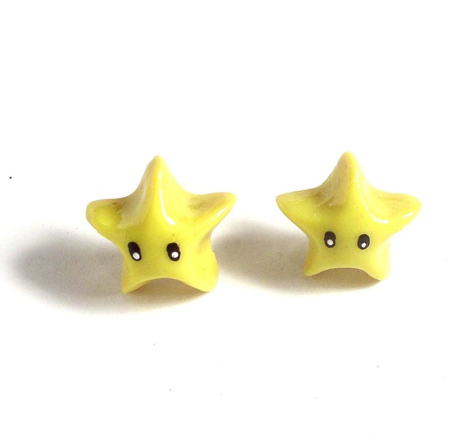 Super Mario Star Studded Earrings
