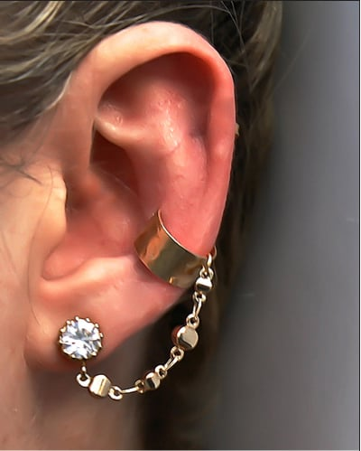 This JewelMint diamond cuff ($35) is a seriously luxe-looking way to test the waters of the ear cuff trend.