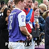 Prince Harry and Prince William were together at a polo match in Cirencester, UK.