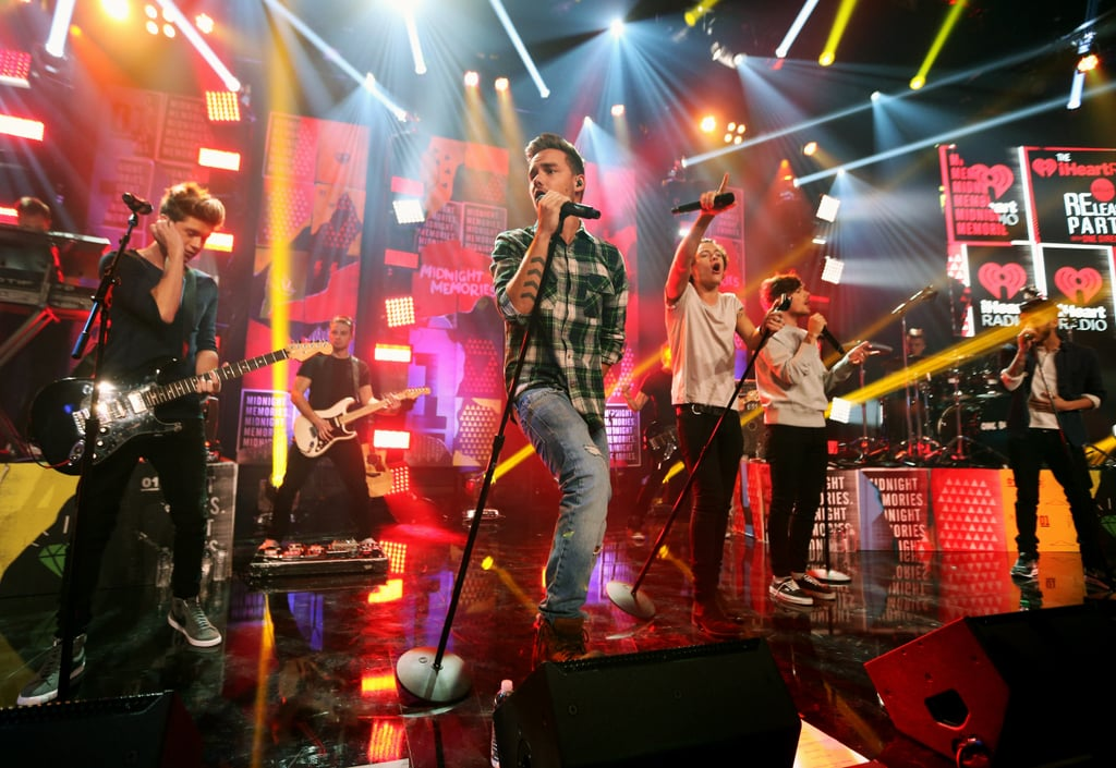 One Direction Performing at Their Album Release Party in 2013