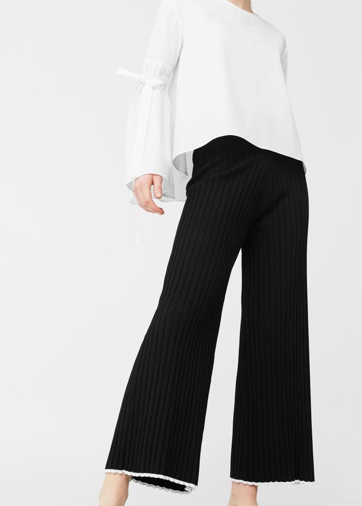 Mango Ribbed Trousers