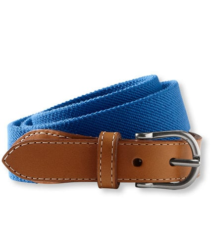 Cinch your prepped-out ensemble with a colorful canvas belt. L.L. Bean Easy Fit Belt in Bright Capri ($35)