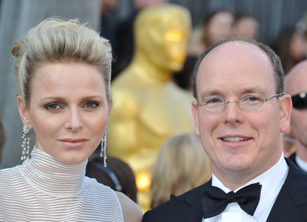 Prince Albert and Charlene Whitstock at the Academy Awards