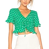 L'Academie The Lucia Blouse in Green Dot
