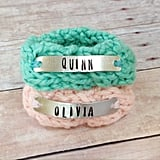 Personalized Identical Twin Knit Bracelets