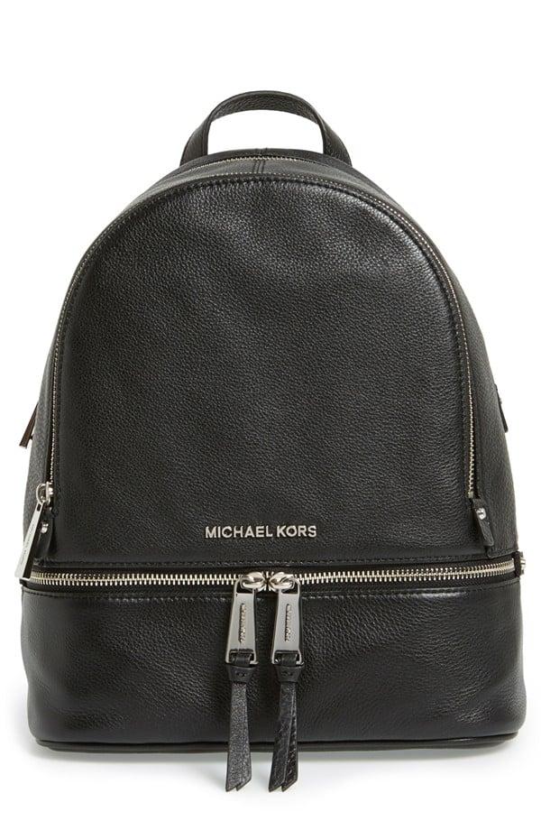 MICHAEL Michael Kors 'Small Rhea Zip' Leather Backpack ($298)