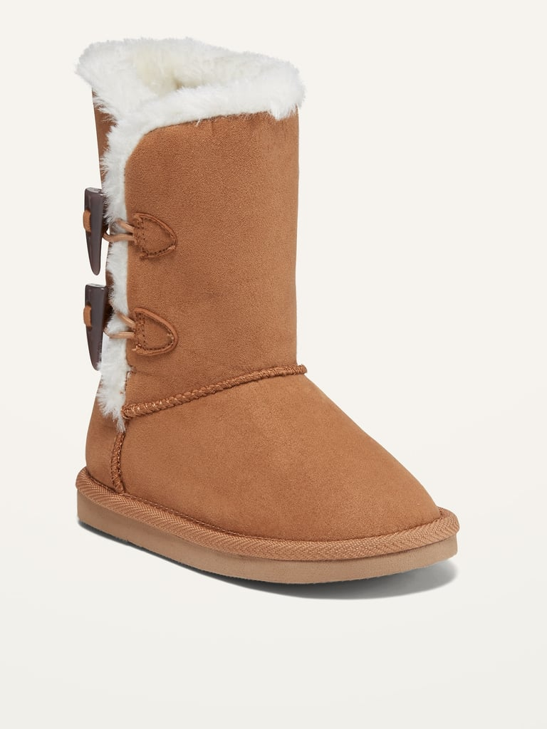Faux-Fur-Lined Boots for Toddler Girls